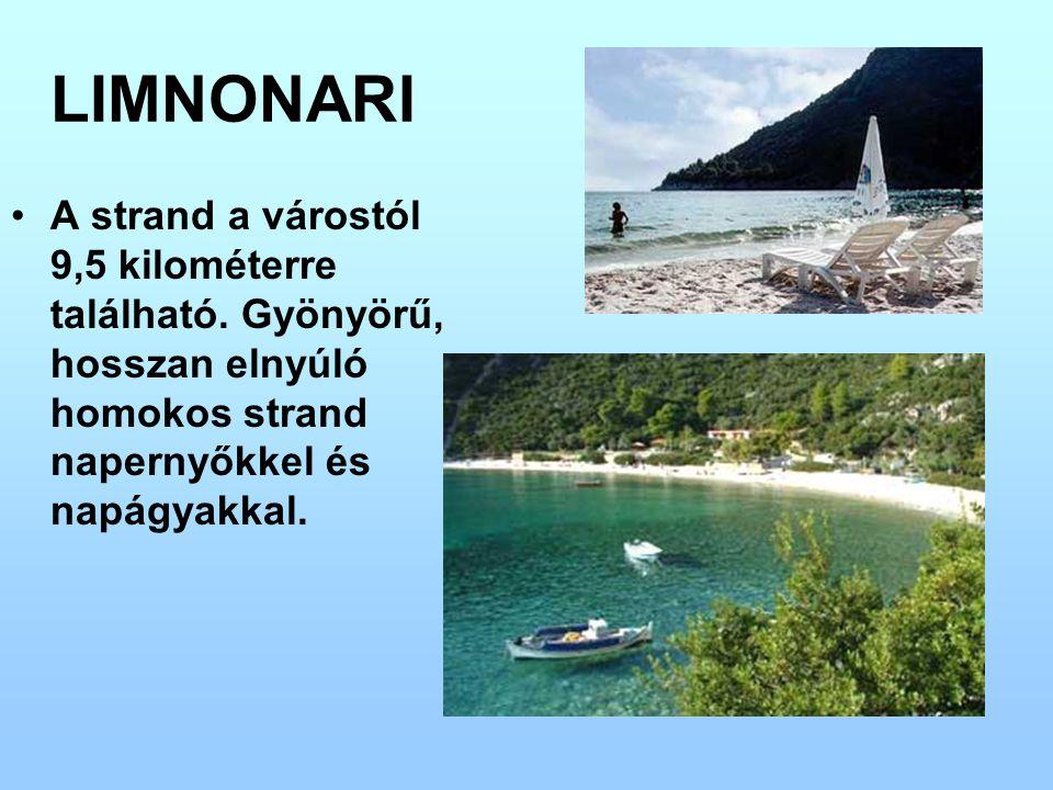 LIMNONARI A strand a várostól 9,5 kilométerre található.
