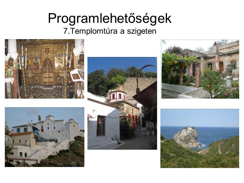 Programlehetőségek 7.Templomtúra a szigeten