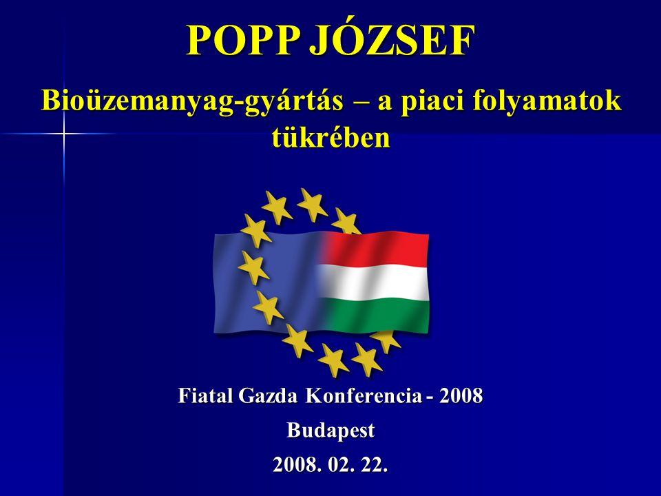 Fiatal Gazda Konferencia - 2008 Budapest 2008. 02. 22.