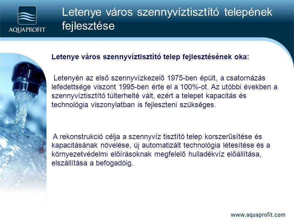 Letenye város szennyvíztisztító telepének fejlesztése