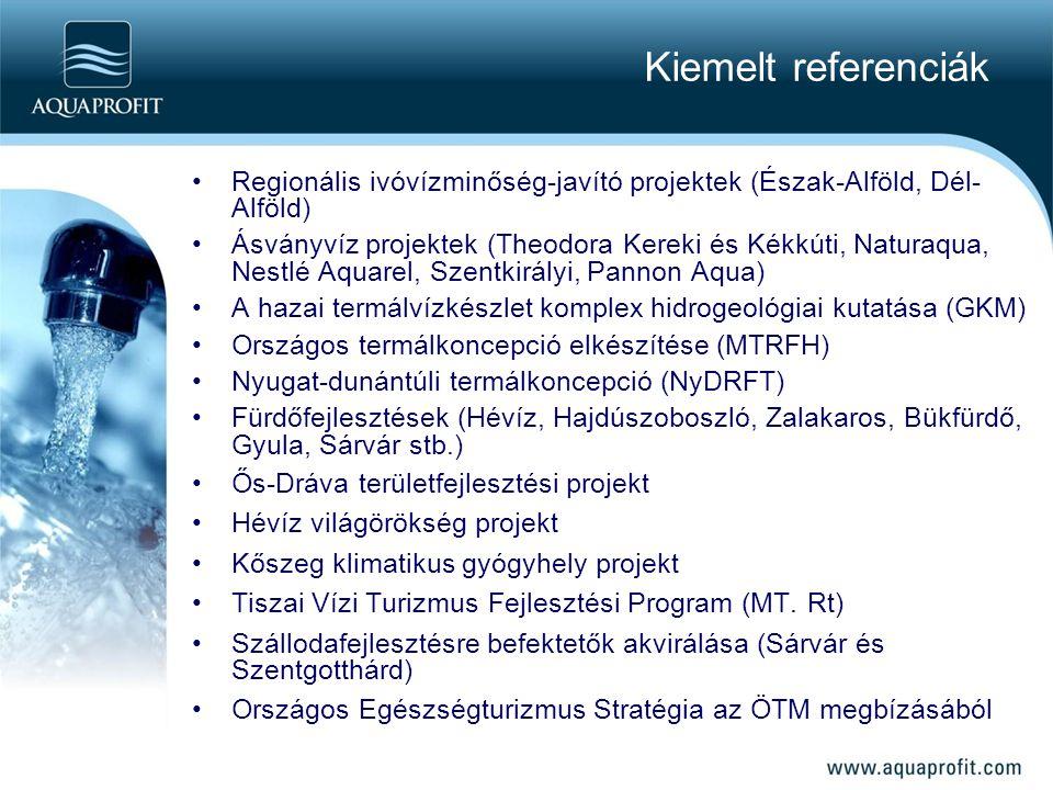 Kiemelt referenciák Regionális ivóvízminőség-javító projektek (Észak-Alföld, Dél-Alföld)