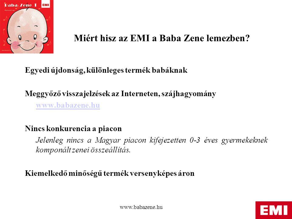 Miért hisz az EMI a Baba Zene lemezben