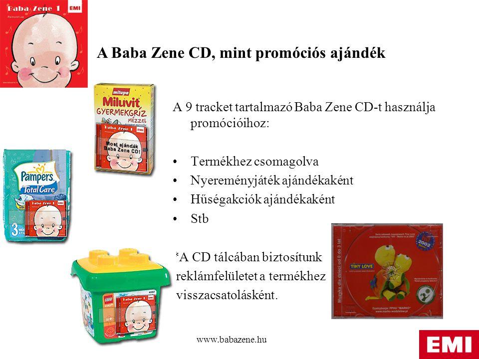 A Baba Zene CD, mint promóciós ajándék