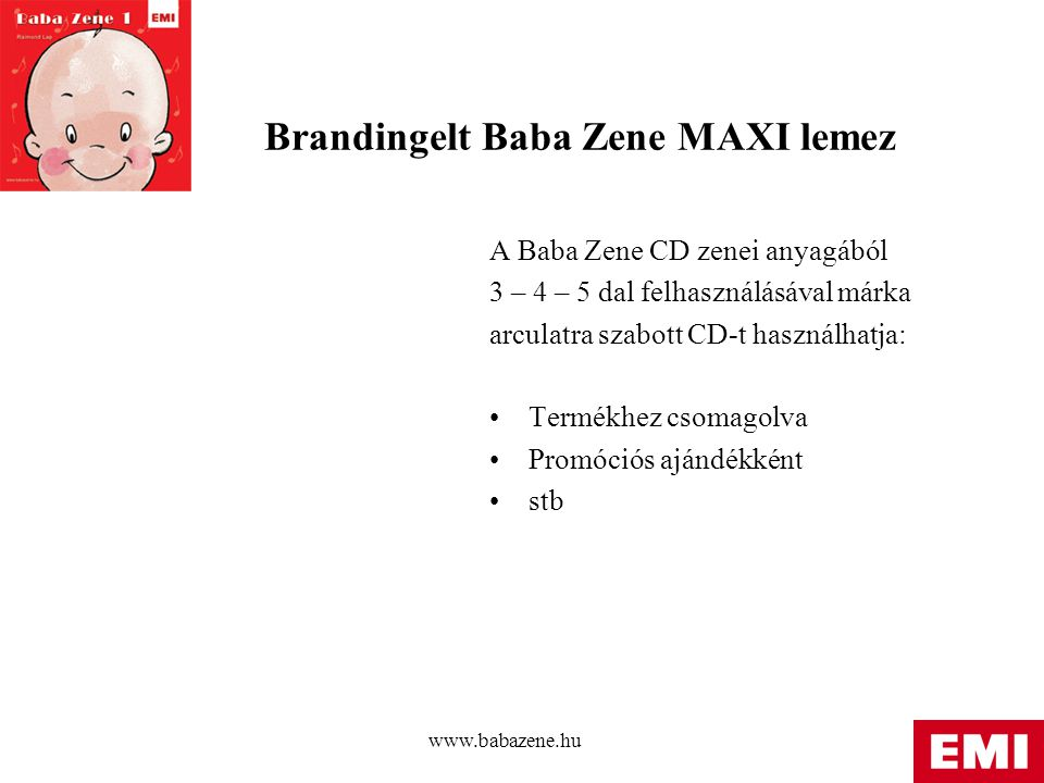 Brandingelt Baba Zene MAXI lemez