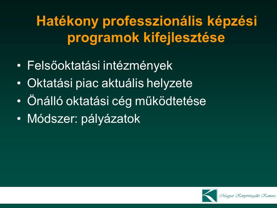 Hatékony professzionális képzési programok kifejlesztése