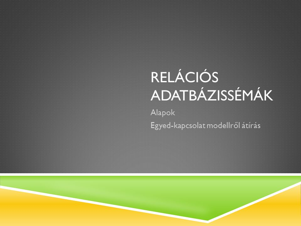 Relációs adatbázissémák