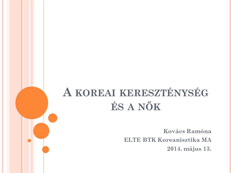 A koreai kereszténység és a nők