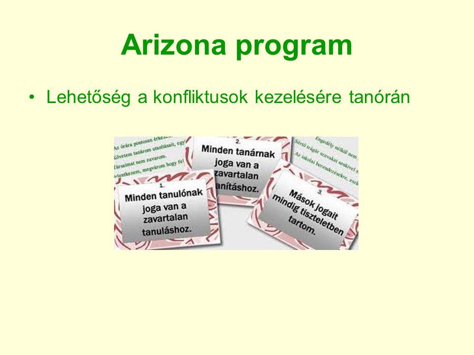Arizona program Lehetőség a konfliktusok kezelésére tanórán