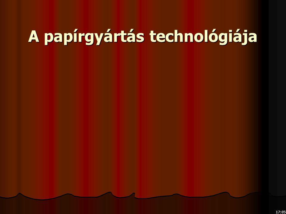 A papírgyártás technológiája