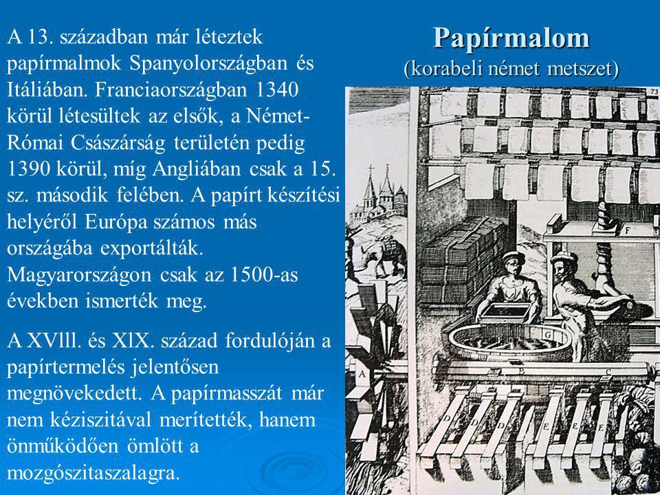 Papírmalom (korabeli német metszet)