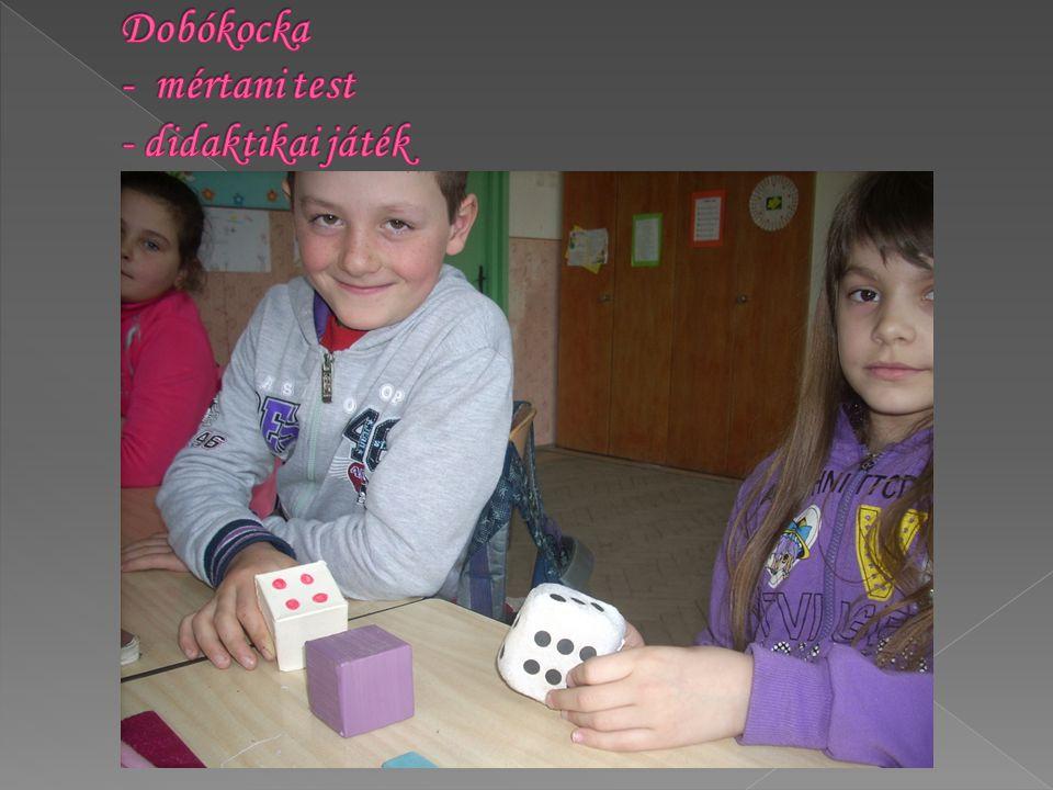Dobókocka - mértani test - didaktikai játék