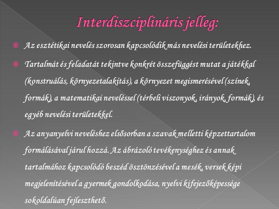 Interdiszciplináris jelleg: