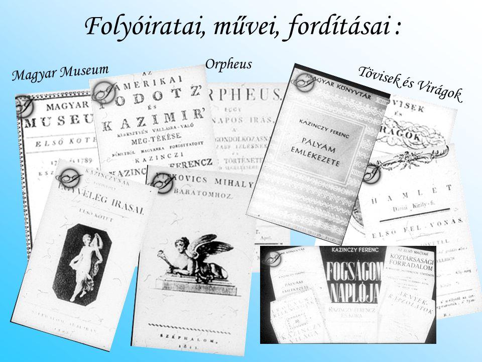 Folyóiratai, művei, fordításai :