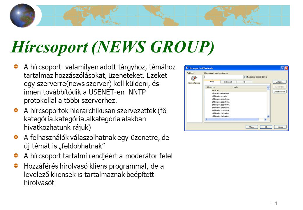 Hírcsoport (NEWS GROUP)