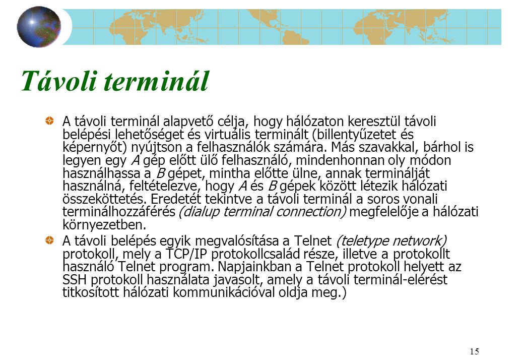 Távoli terminál