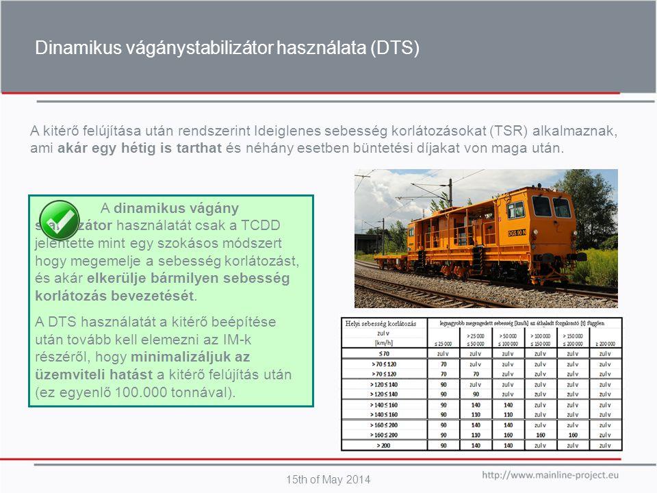 Dinamikus vágánystabilizátor használata (DTS)