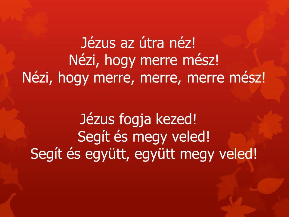 Jézus az útra néz. Nézi, hogy merre mész