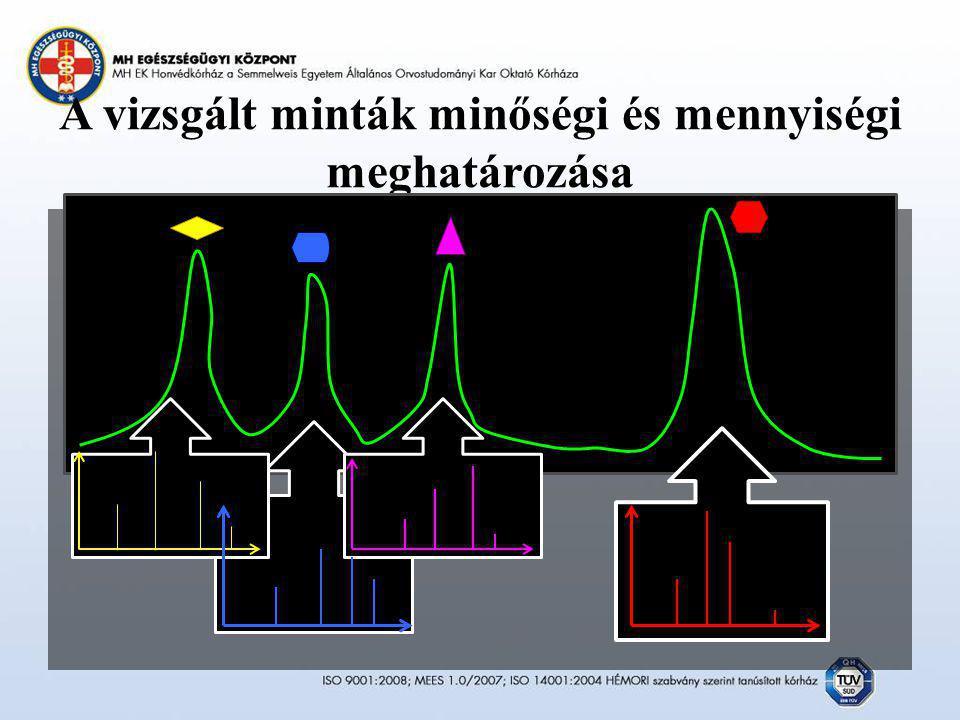 A vizsgált minták minőségi és mennyiségi meghatározása