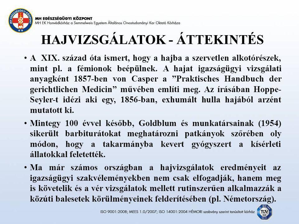 HAJVIZSGÁLATOK - ÁTTEKINTÉS