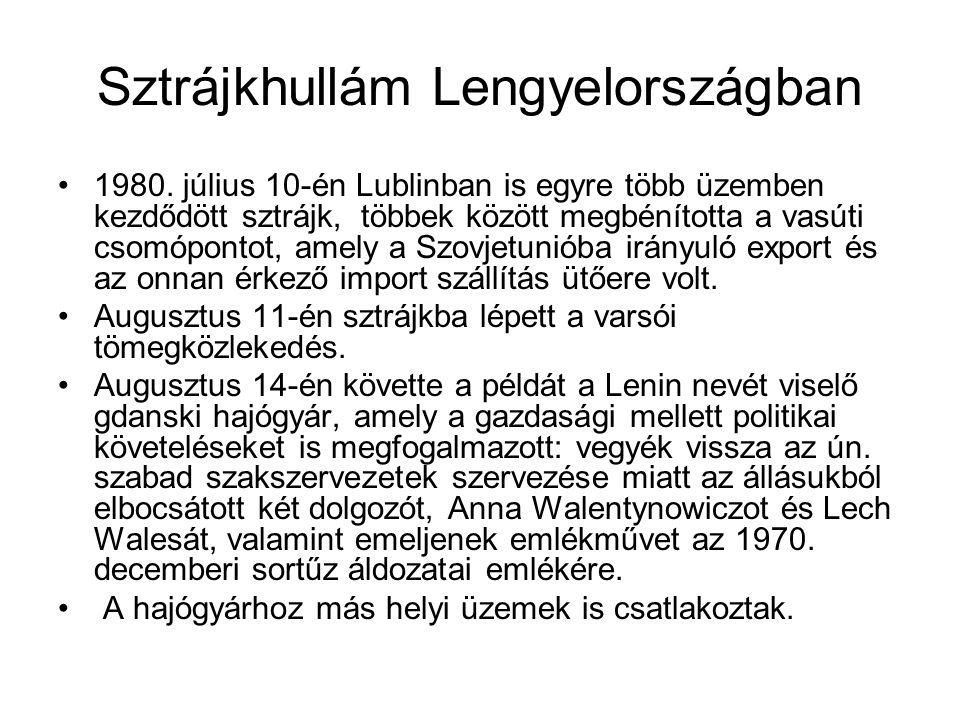 Sztrájkhullám Lengyelországban