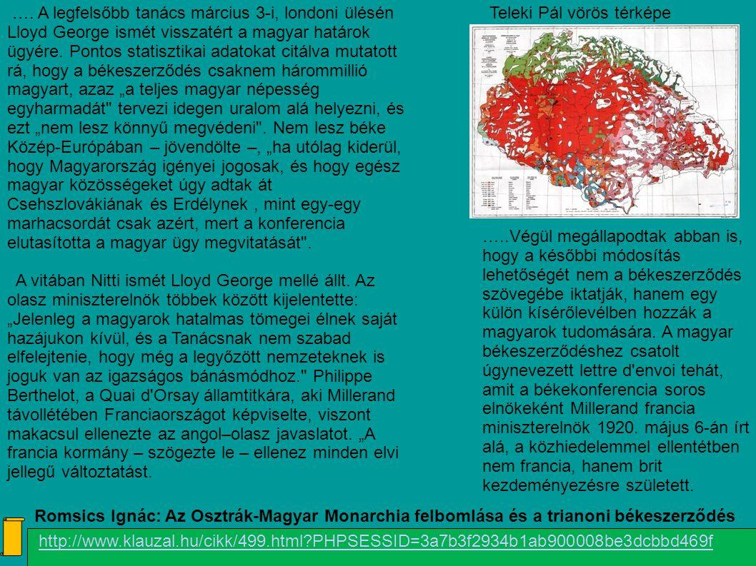 Teleki Pál vörös térképe
