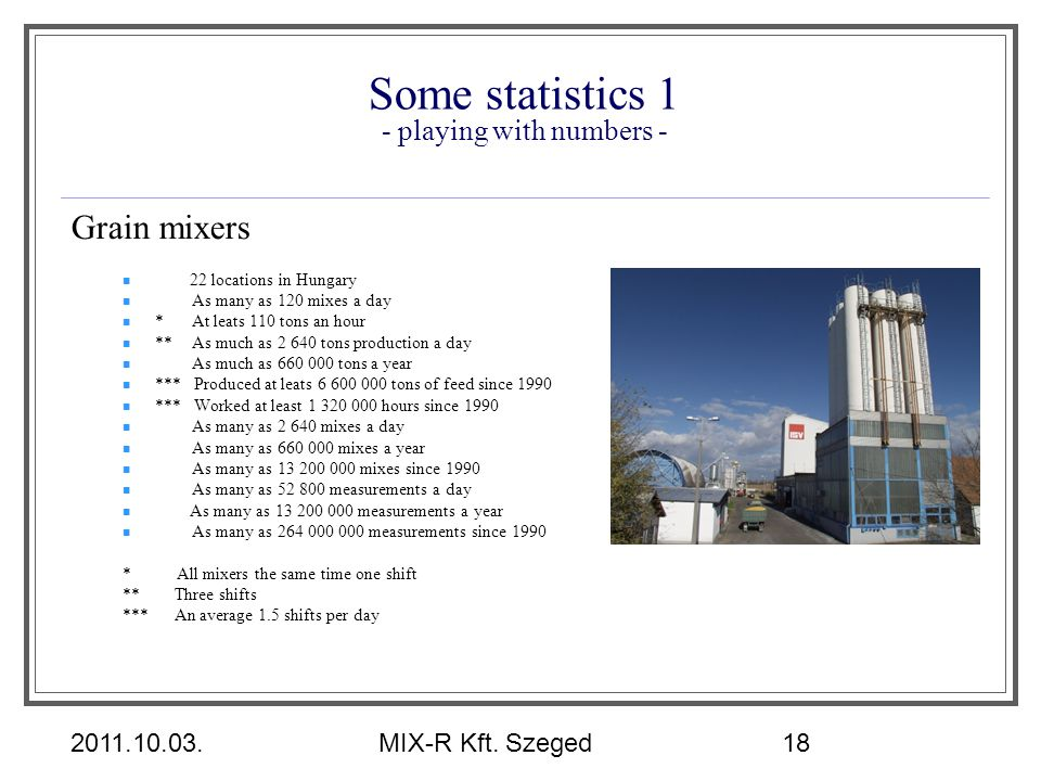 Some statistics 1 - playing with numbers -
