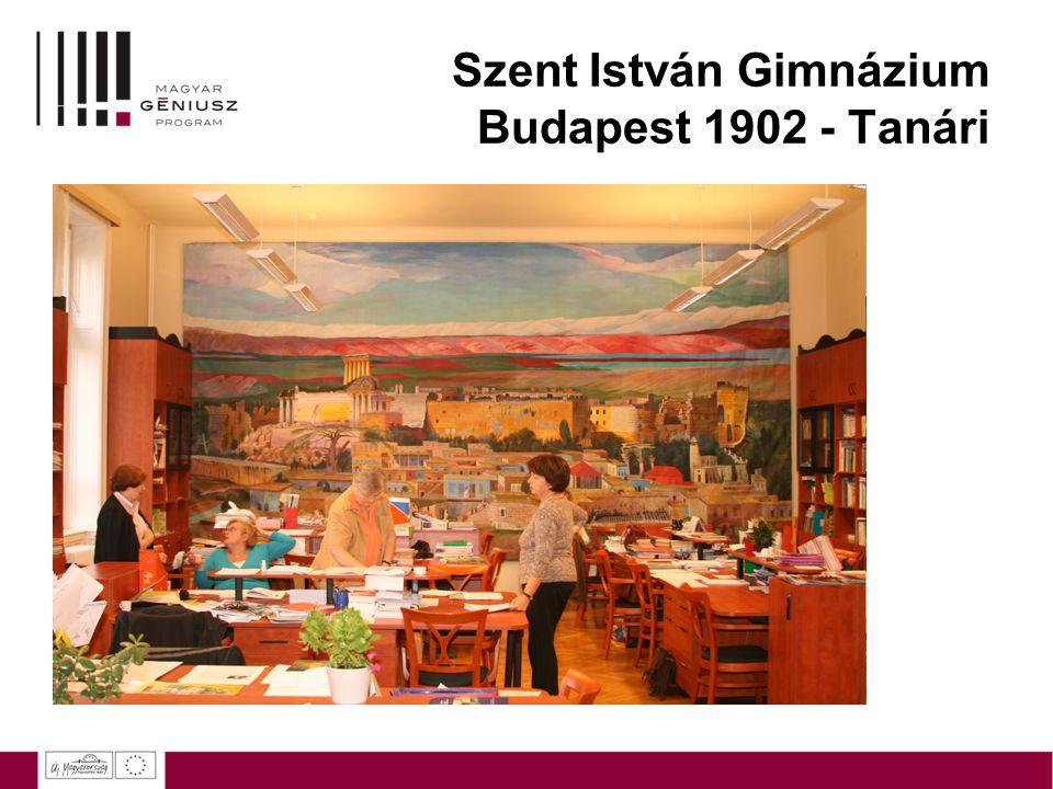 Szent István Gimnázium Budapest 1902 - Tanári