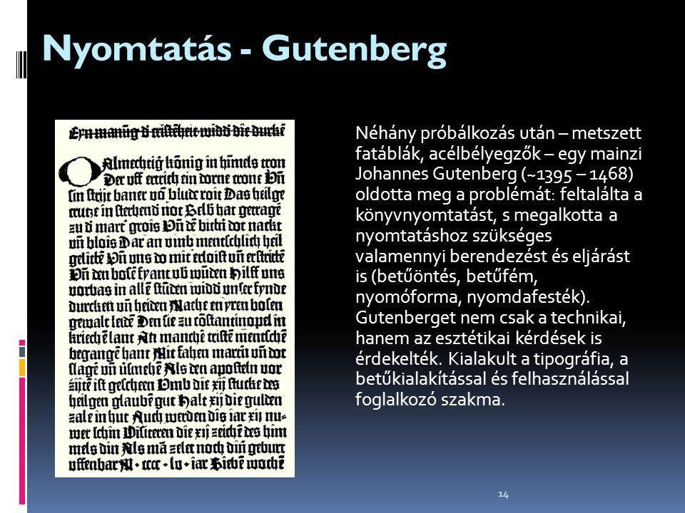 Nyomtatás - Gutenberg