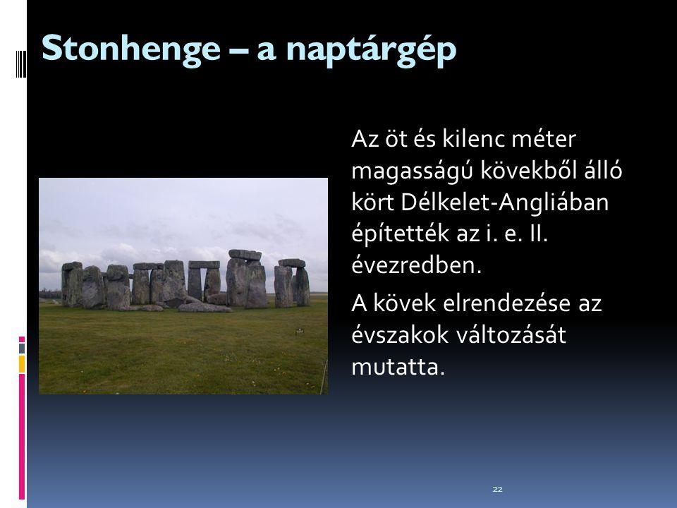 Stonhenge – a naptárgép