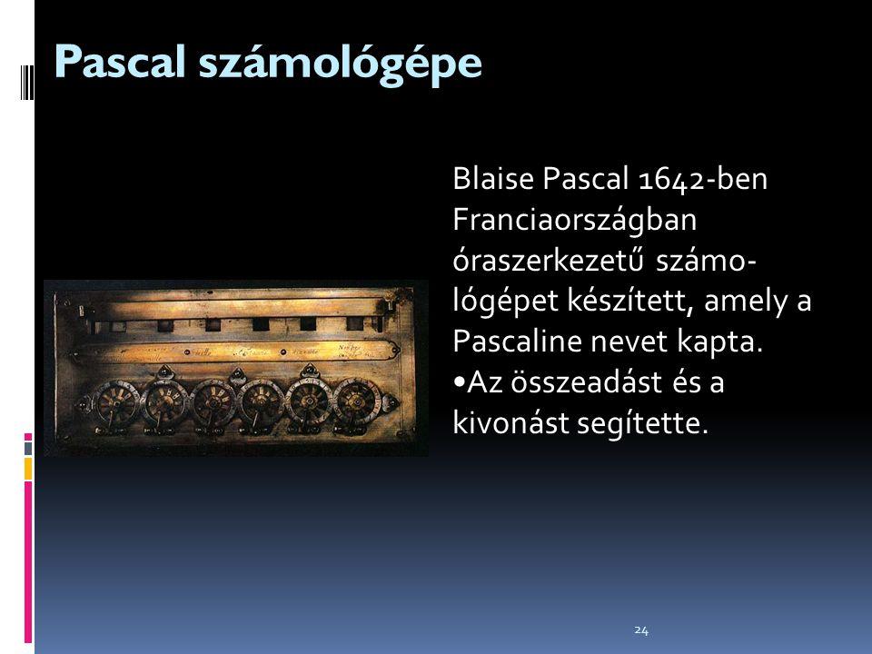 Pascal számológépe