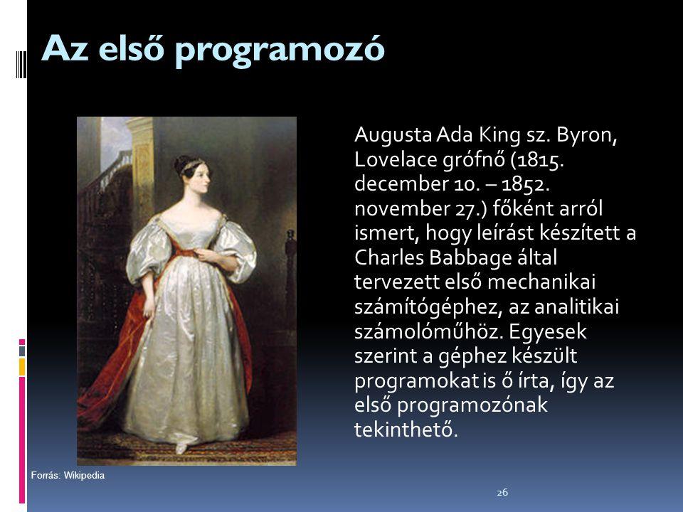 Az első programozó