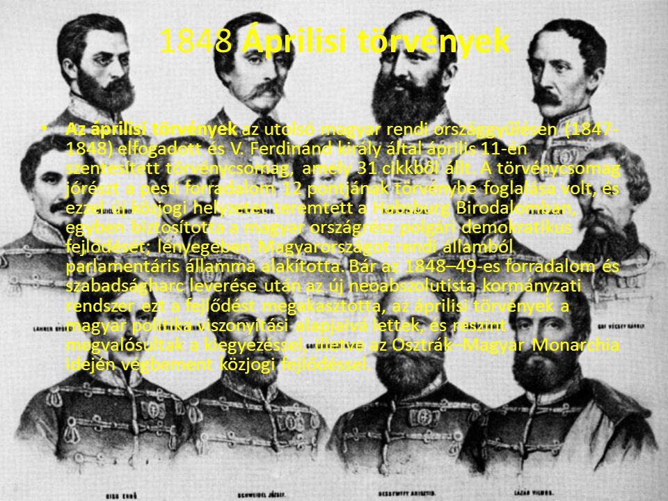 1848 Áprilisi törvények