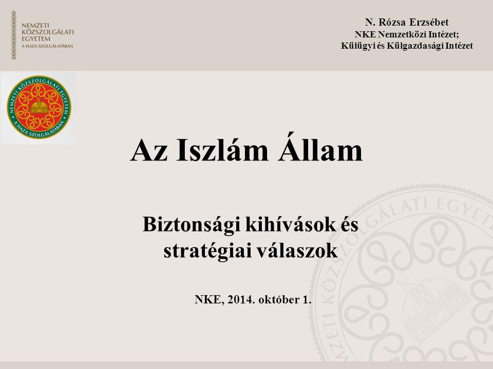 NKE Nemzetközi Intézet; Biztonsági kihívások és stratégiai válaszok