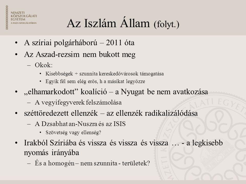 Az Iszlám Állam (folyt.)