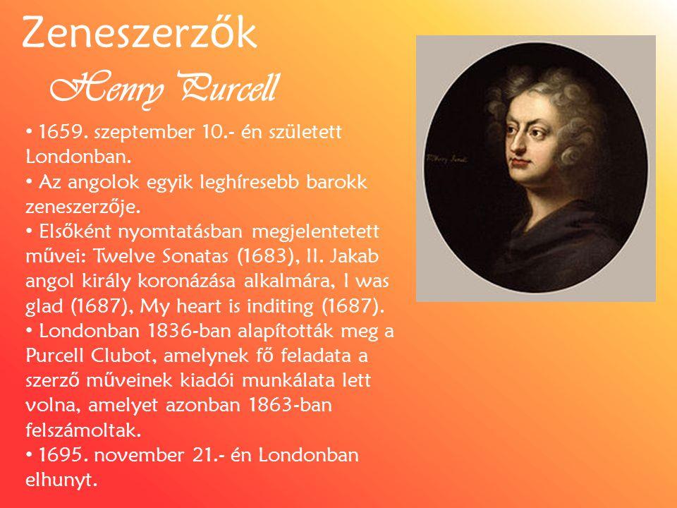 Zeneszerzők Henry Purcell