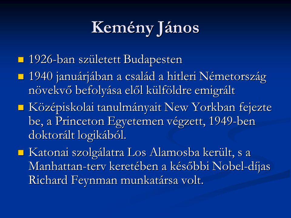 Kemény János 1926-ban született Budapesten