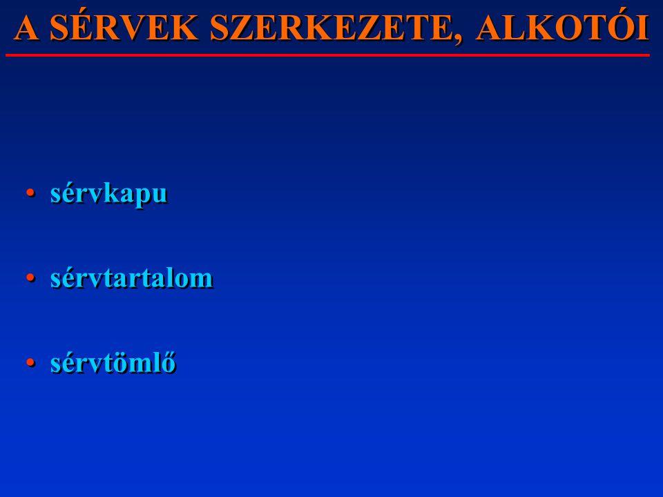 A SÉRVEK SZERKEZETE, ALKOTÓI