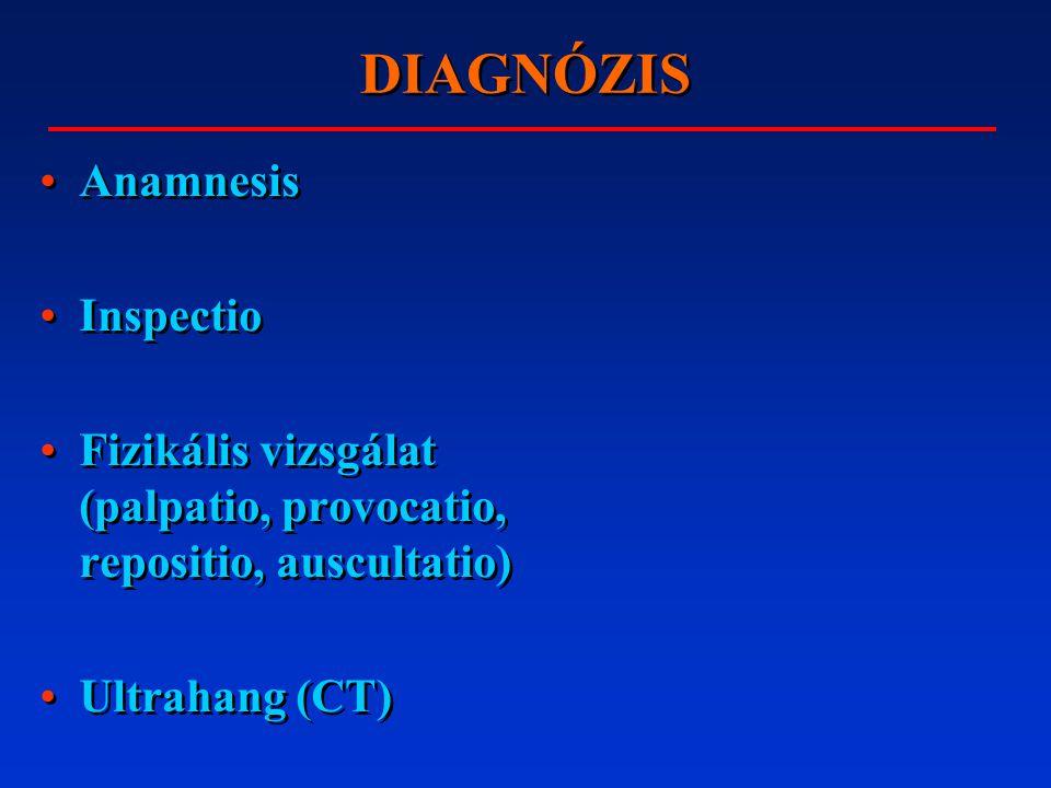 DIAGNÓZIS Anamnesis Inspectio