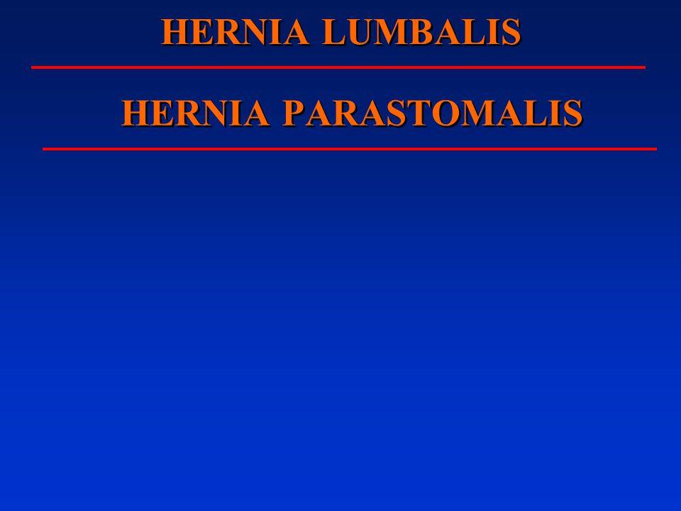 HERNIA LUMBALIS HERNIA PARASTOMALIS