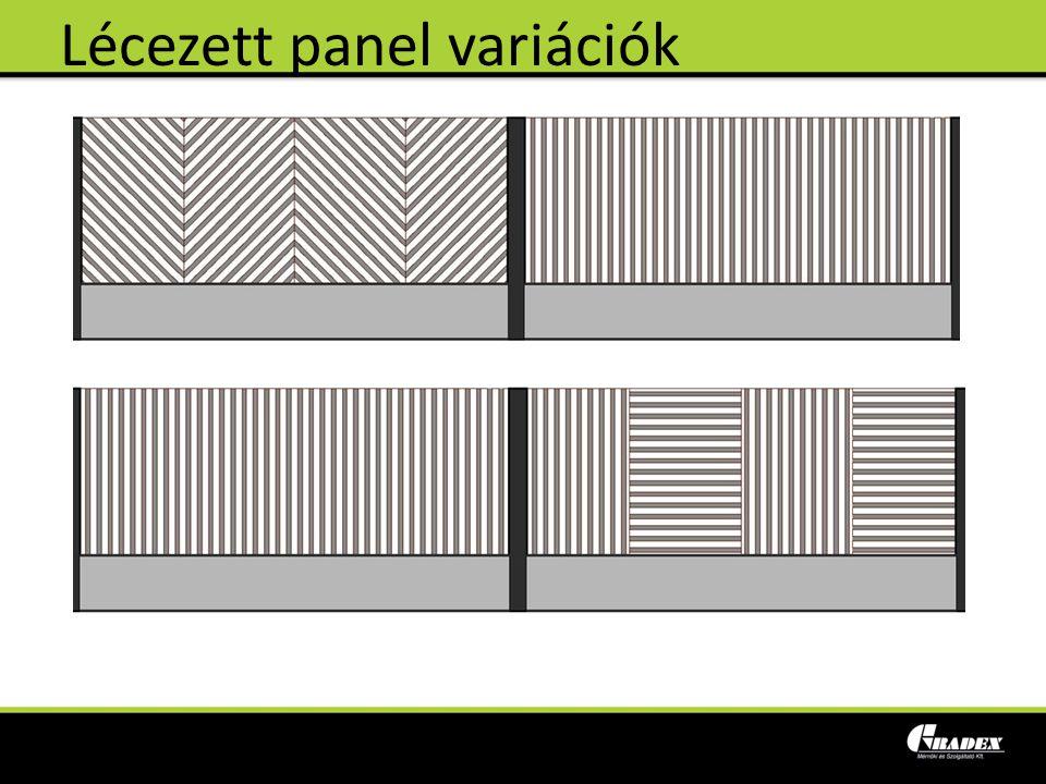 Lécezett panel variációk