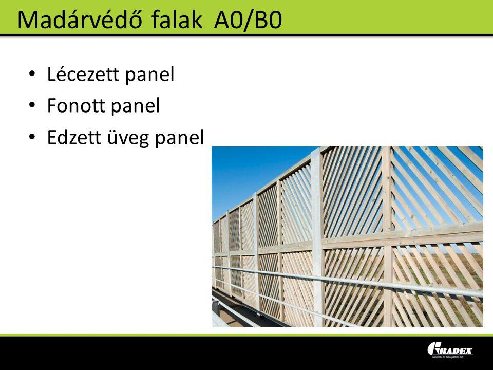 Madárvédő falak A0/B0 Lécezett panel Fonott panel Edzett üveg panel