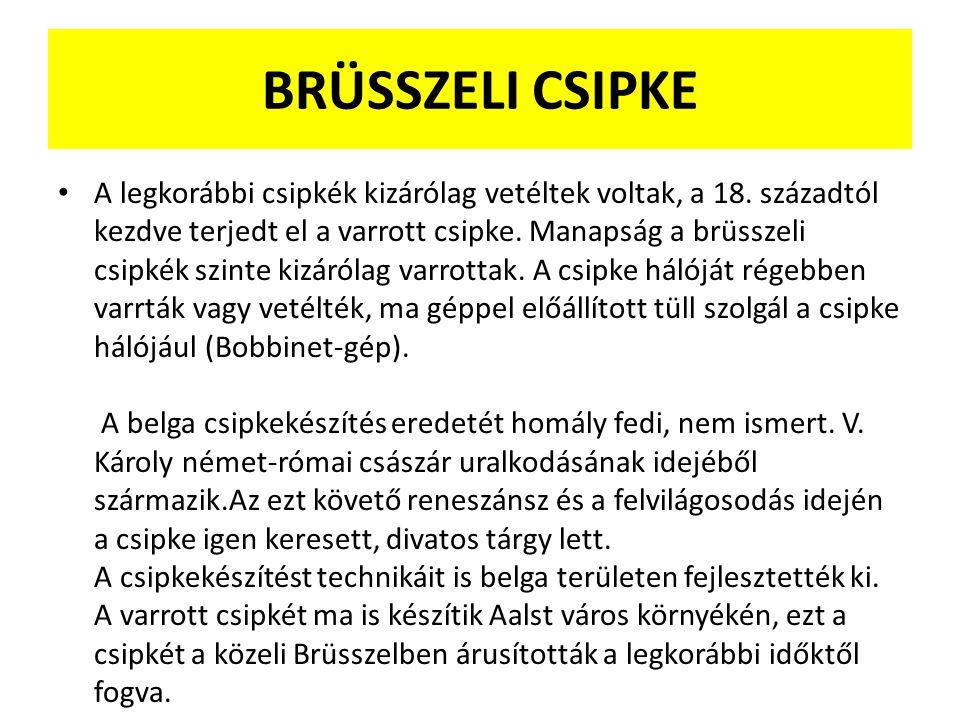 BRÜSSZELI CSIPKE
