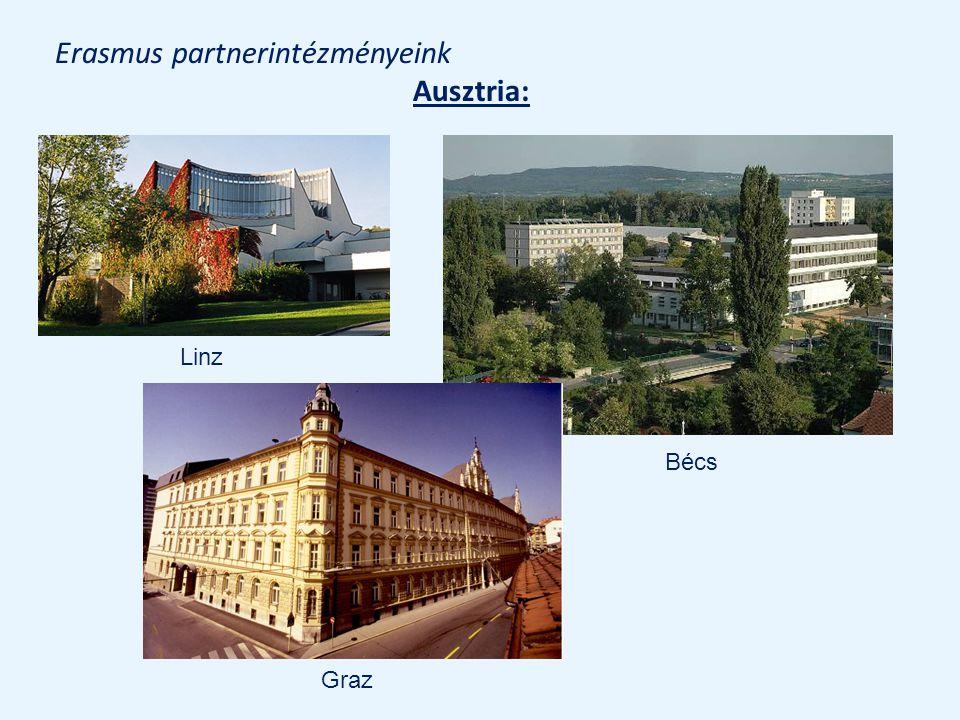 Erasmus partnerintézményeink Ausztria: