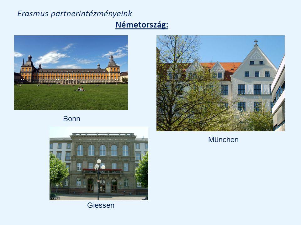 Erasmus partnerintézményeink Németország: