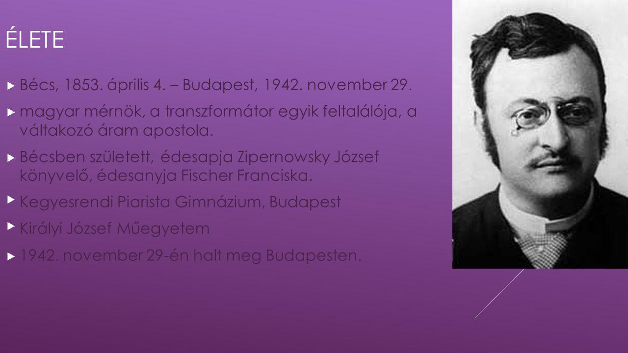 Élete Bécs, 1853. április 4. – Budapest, 1942. november 29.