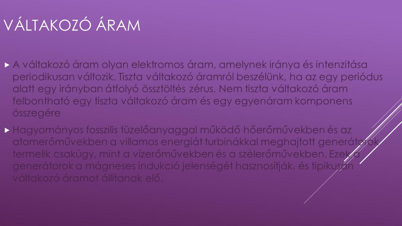 VÁLTAKOZÓ ÁRAM