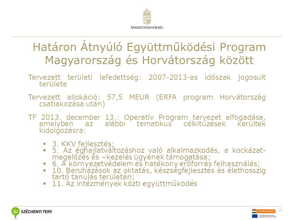 Határon Átnyúló Együttműködési Program Magyarország és Horvátország között