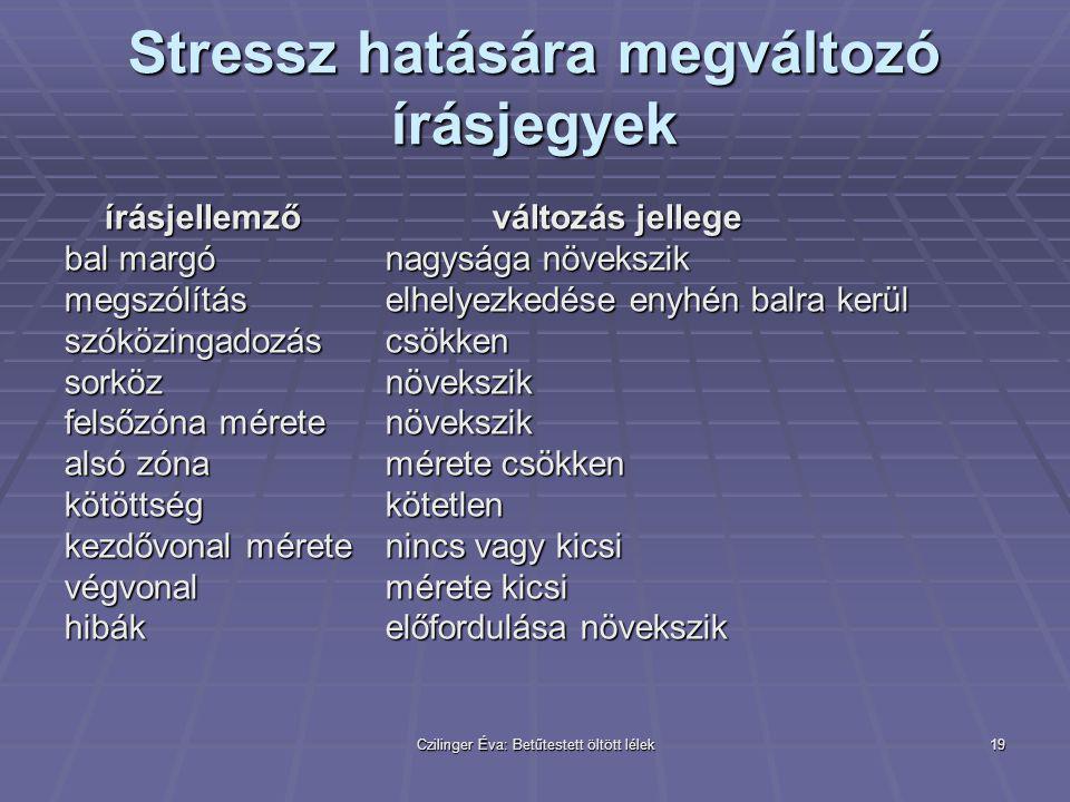 Stressz hatására megváltozó írásjegyek