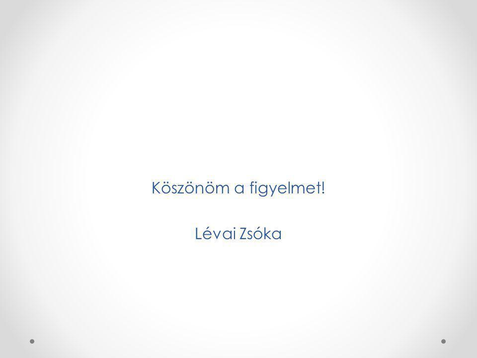 Köszönöm a figyelmet! Lévai Zsóka