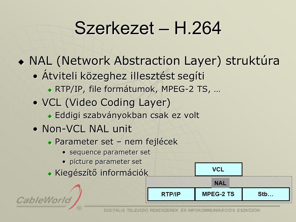 Szerkezet – H.264 NAL (Network Abstraction Layer) struktúra